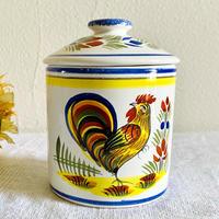 houti|FRANCE HENRIOT QUIMPER 陶器製キャニスター