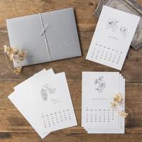 HUTTE.|2022年calendar 「樹木花」