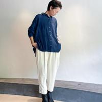 CALICO|手織シルクジャガードタックパンツ(ホワイト)