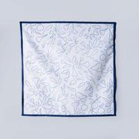 Canako Inoue|garden ハンカチ(white-blue)