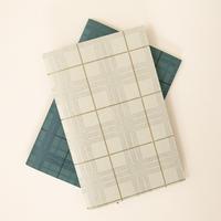 DRESSENSE|【紙博限定】ベルギー製活版印刷ポケットノート タータンチェック2P