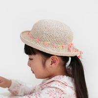 AVRIL|バンブーテープのつばつき帽子 kids ピーチ