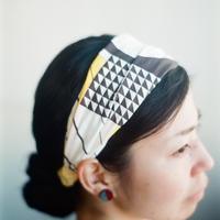Nuusle|てぬぐいヘアバンド 黄