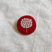 tukumokumo|小花ブローチ赤
