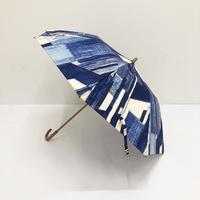 【6月号掲載分】YUMI YOSHIMOTO KESHIKI 晴雨兼用折りたたみ傘 office street blue