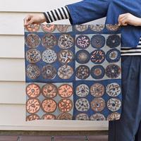 "gochisou|""hugsy doughnuts"" scarf (綿リヨセル) blue"
