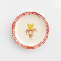 松浦ナオコ|1クマのぬいぐるみ小皿(赤)