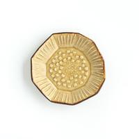 陶器あ↔︎ん 4豆皿 たんぽぽ 黄瀬戸