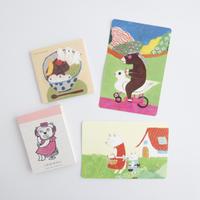 柴田ケイコ|お楽しみ紙雑貨セット(お楽しみメモ+よしえさんメモ+お楽しみポストカード2枚)