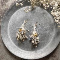 botanical works|botanical swag earring / pierce 片耳【natural yellow】【受注商品:11月中発送】