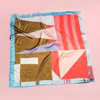 "YUMI YOSHIMOTO  シルクプリントスカーフ ""The perfect laundry day"""