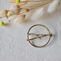 田中友紀 object brooch [ 葦 ] brass