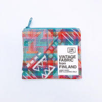 LIFE AND BOOKS|VINTAGE FABRIC POUCH (S)7-3