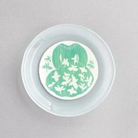 菊田佳代|17ワンピース(ミント)の丸皿