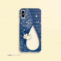 A*クリアハードケースiPhone X/XS/8/7/6/5/5s/SE*月光雨のねこ*しずく