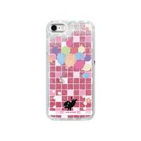 iPhone X/XS/6/6s/7/8*グリッターケース*1902PGMo*やみねこ*風船のたね*ローズピンク