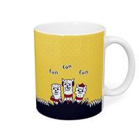 あるぱかイズムの黄色いマグカップ_1801Y