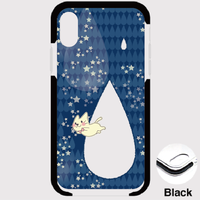 B*iPhone XSMax/8Plus/7Plus*fun fun fun月光雨のねこ*しずくクッションバンパーケース