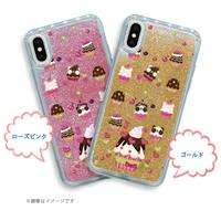 iPhone X/XS/6/6s/7/8*グリッターケース*ズレちゃんDEカップケーキ*1924GB