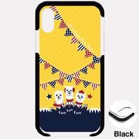 B*iPhone XSMax/8Plus/7Plus*fun fun funあるぱかイズムガーランドスタイル*クッションバンパーケース