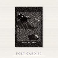 PC22闇夜のやみらーにゃーにゃーポストカード