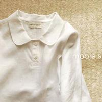 丸襟がかわいい リネンブラウス  白、黒、リネンカラーの3色からお選びいただけます