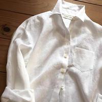 シンプルリネンシャツ  白、黒、リネンカラーの3色からお選びいただけます