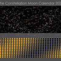 ムーンカレンダー2020 Consタイプ  横型