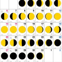 ムーンカレンダー2019 10月(フリーサンプル) Whiteタイプ 縦型