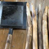 /moose/アウトドア鉄板 Frying iron +EZOWOODハンドルセット