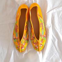 刺繍フラットシューズ ( Auspicious Phoenix  [Yellow] SIZE: S)