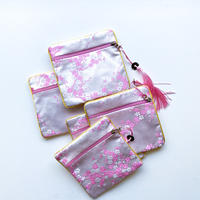 CHEONGSAM POUCH [UME SILVER PINK]