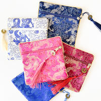 CHEONGSAM POUCH [Wo / Dragon in the sky (Dark color)]