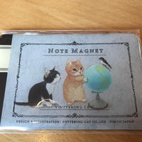 ポタリングキャット カードマグネット 地球儀