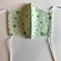 ハンドメイド布マスク(ご支援) 立体タイプ キッズサイズ 小花柄 お好きなカード付き