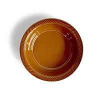 blur 17cm deep plate  茶