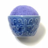 九谷焼お針山 ポップ  purple