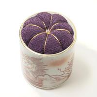 九谷焼針山 ヴィンテージ  purple
