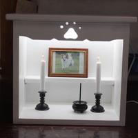 ペットメモリアルボックス・仏壇・LEDライト付き