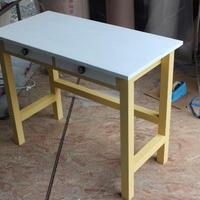 大人気・アンティーク風2ドロワー作業台90・テーブル