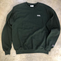 "Wood plank embroidery sweat ""Green"""
