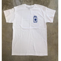 Grill skateboard T-shirts (White x Blue
