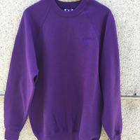 Embroidery crew neck (Purple)