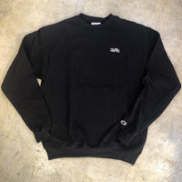"Wood plank embroidery sweat ""Black"