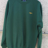 Embroidery crew neck (Green)