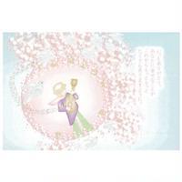 ロマン職人ロビン ポストカード 桜日和の宇宙
