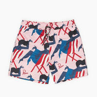 BY PARRA MADAME BEACH SWIM SHORTS PINK