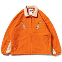 TIGHTBOOTH TAKODOSU FLEECE JACKET  ORANGE