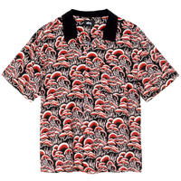 STUSSY  CORAL PATTERN SHIRT RED