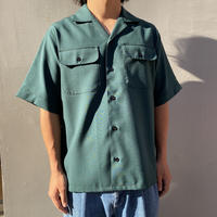 MARNI  WOOSTED WOOL RIPSTOP  S/S SHIRT GREEN